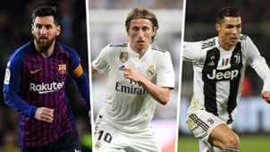 Lionel Messi Luka Modric Cristiano Ronaldo