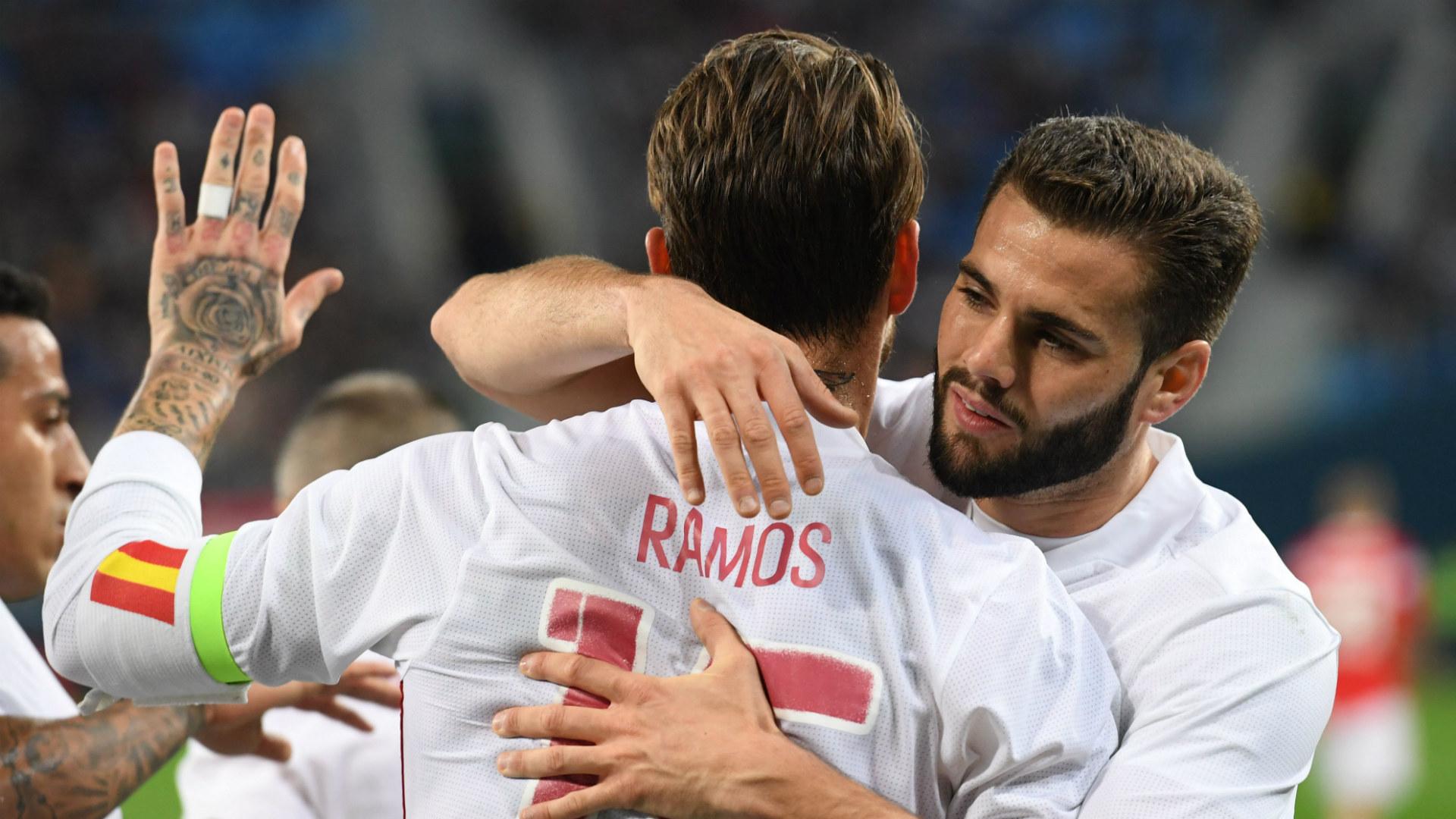 Sergio Ramos Nacho Spain Russia Friendly