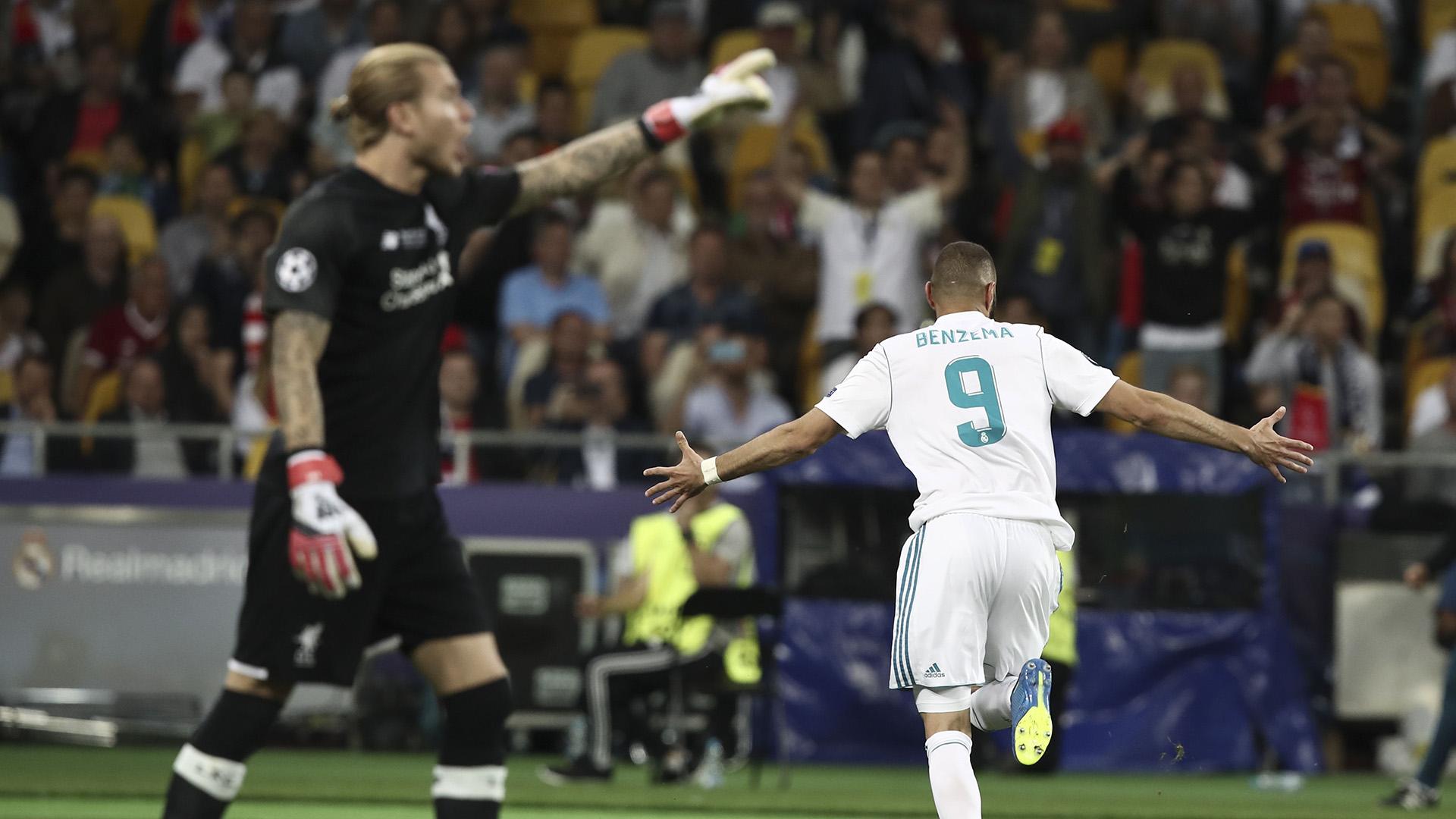 Benzema goal Karius Real Madrid Liverpool Champions League final 26052018