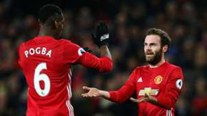 Paul Pogba Juan Mata Manchester United