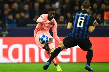 DEMBELE INTER BARCELONA CHAMPIONS LEAGUE