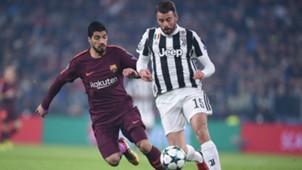 Luis Suarez Andrea Barzagli Barcelona Juventus