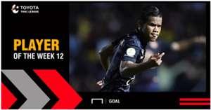 Toyota Thai League Player of the Week 12 : ศศลักษณ์ ไหประโคน