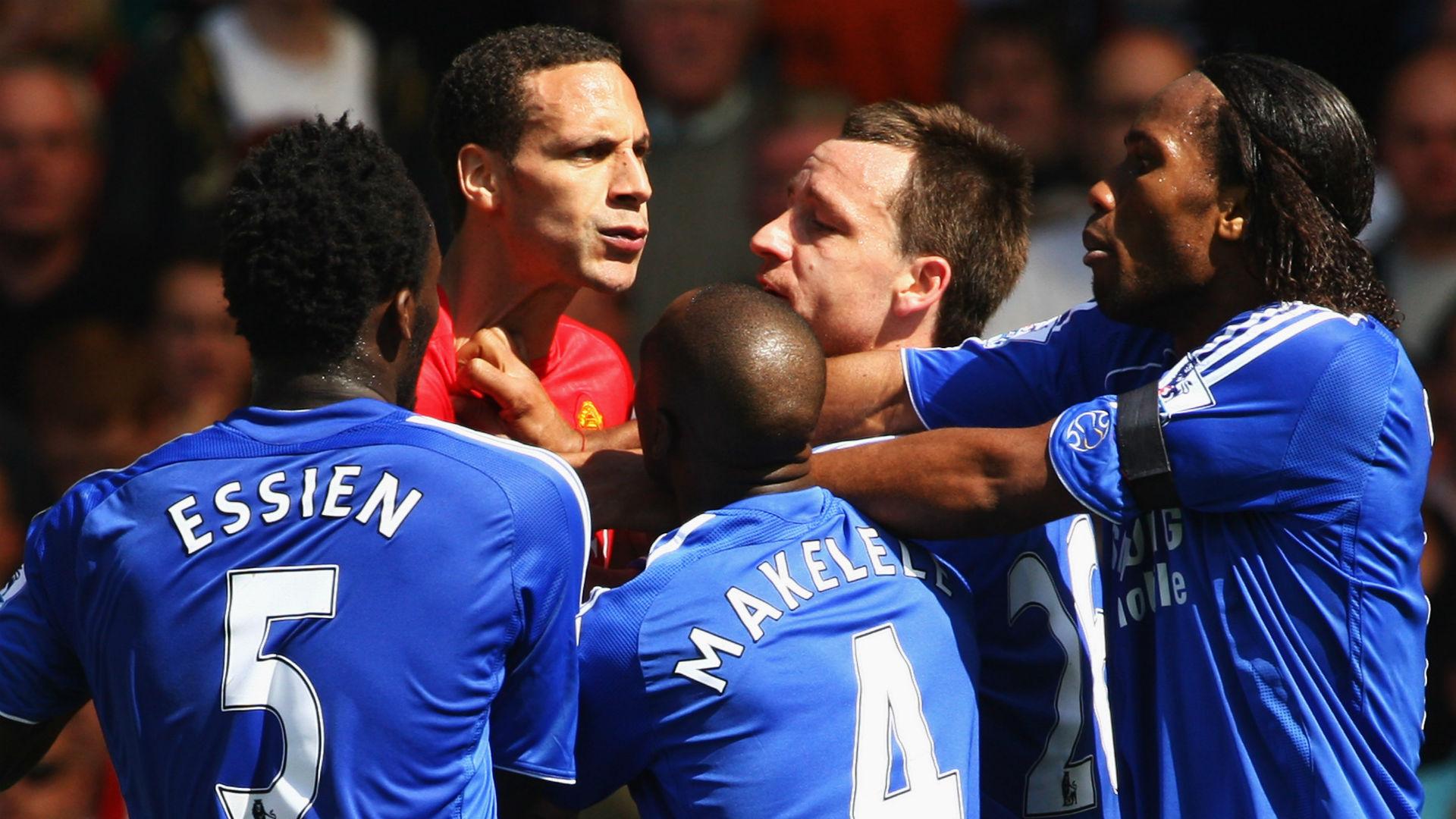 Rio Ferdinand Manchester United Didier Drogba Chelsea 2008