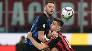 Piatek De Vrij Milan Inter Serie A