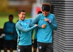 David Luiz Eden Hazard Chelsea