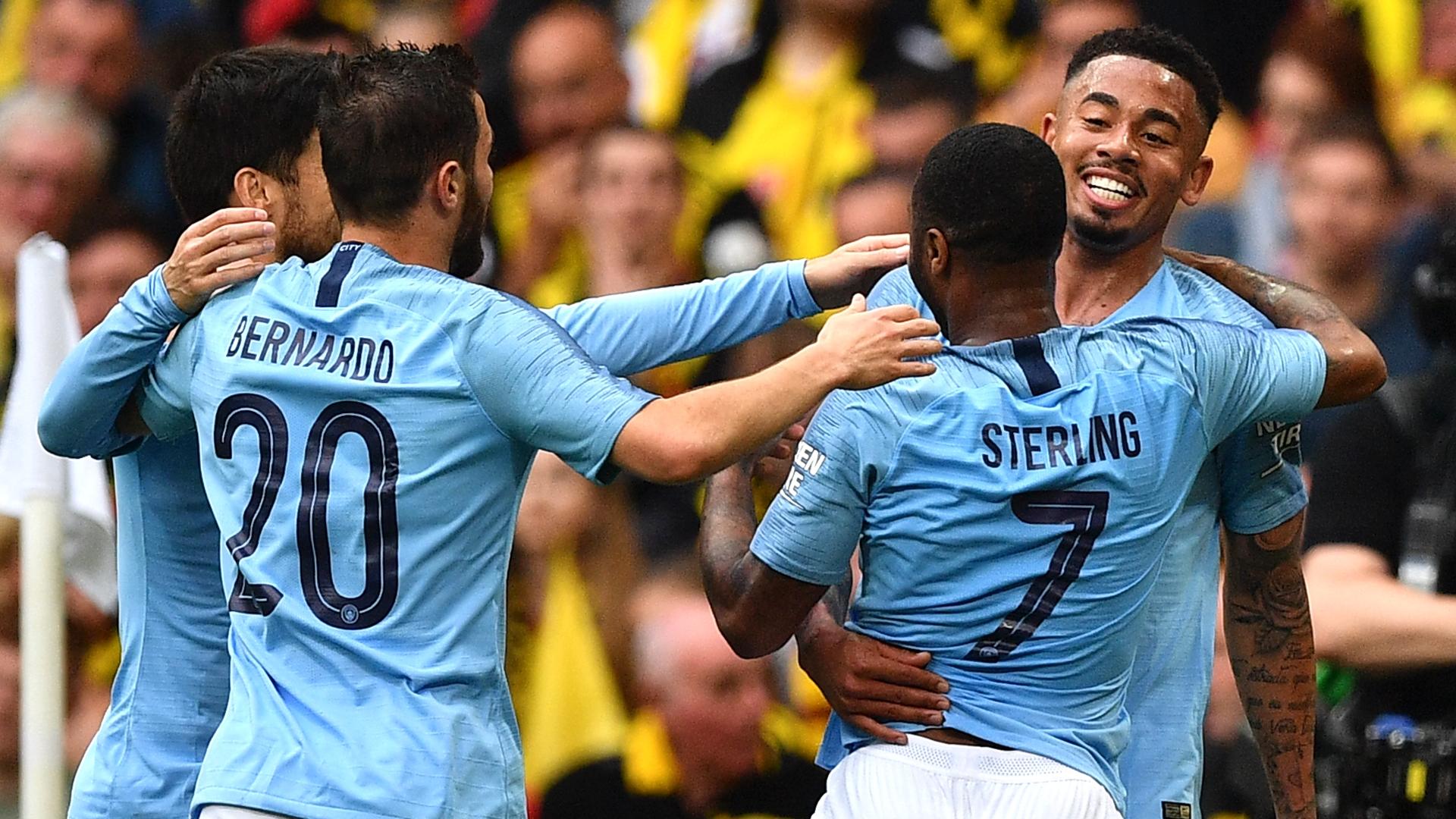 Man City celebrate vs Watford FA Cup 2019