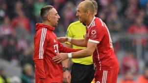 Franck Ribery Arjen Robben FC Bayern 16092017