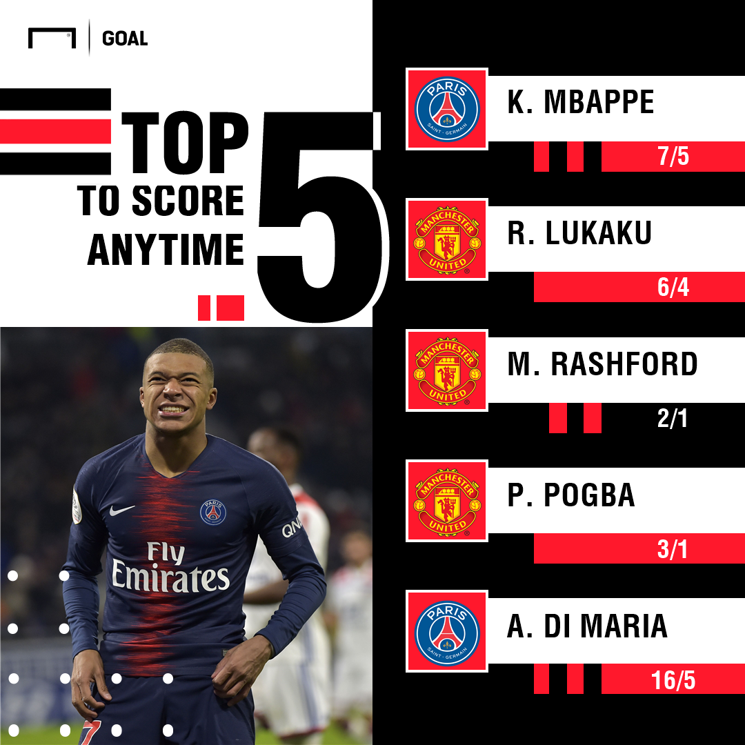 Manchester United PSG scorers graphic