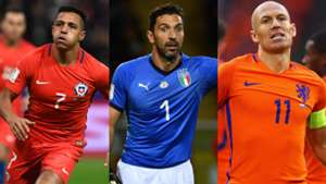 Alexis Sanchez Gianluigi Buffon Arjen Robben Chile Italia Holanda 2017