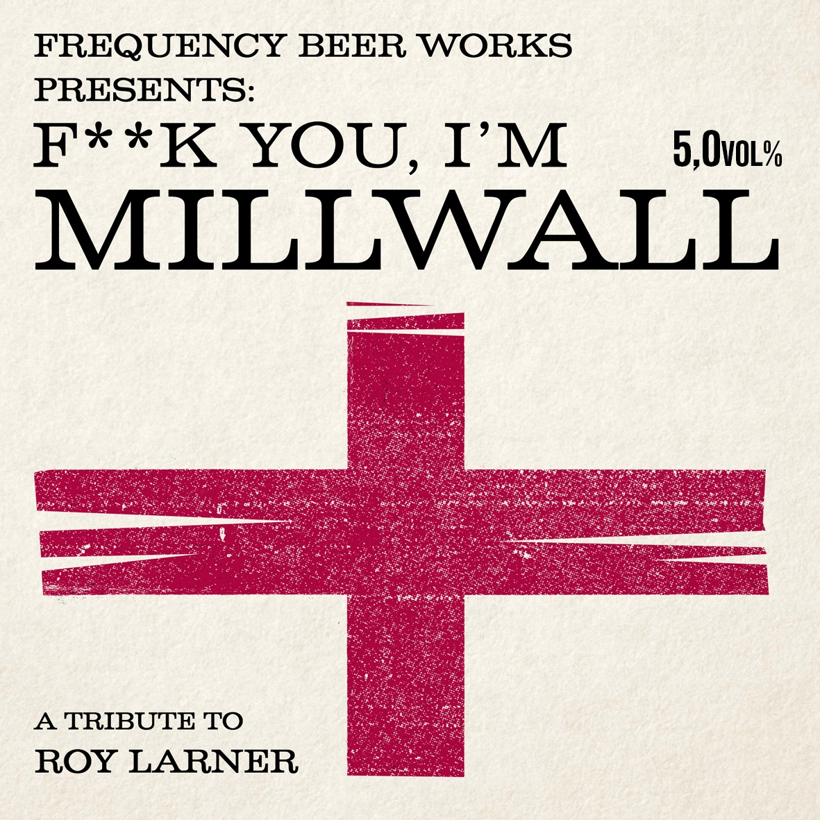 Millwall Beer label