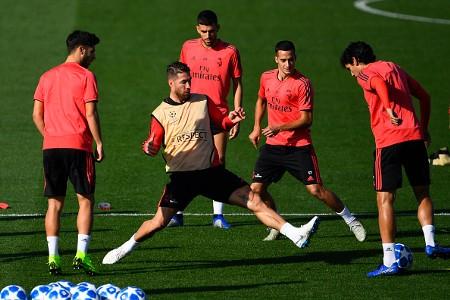 Sergio Ramos training
