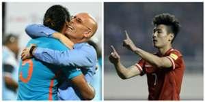China vs India collage