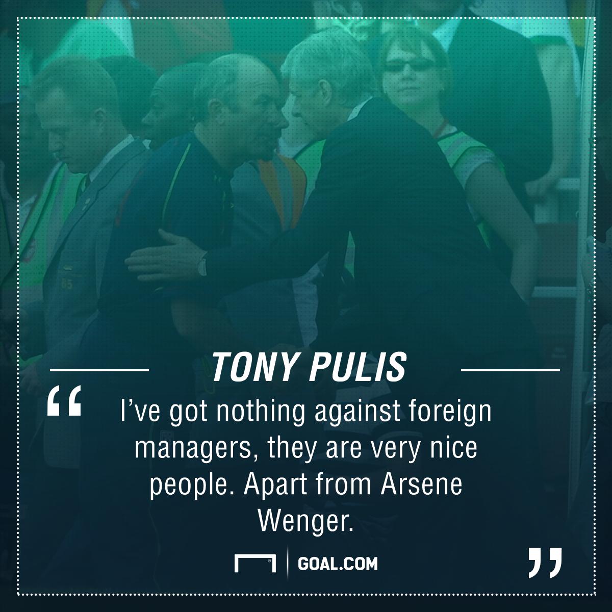 Tony Pulis Arsene Wenger