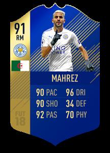 FIFA 18 Team of the Season Mahrez