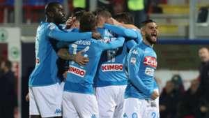 Napoli celebrating Crotone Napoli Serie A