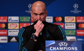 Zinedine Zidane PSG Real Madrid UEFA Champions League press conference