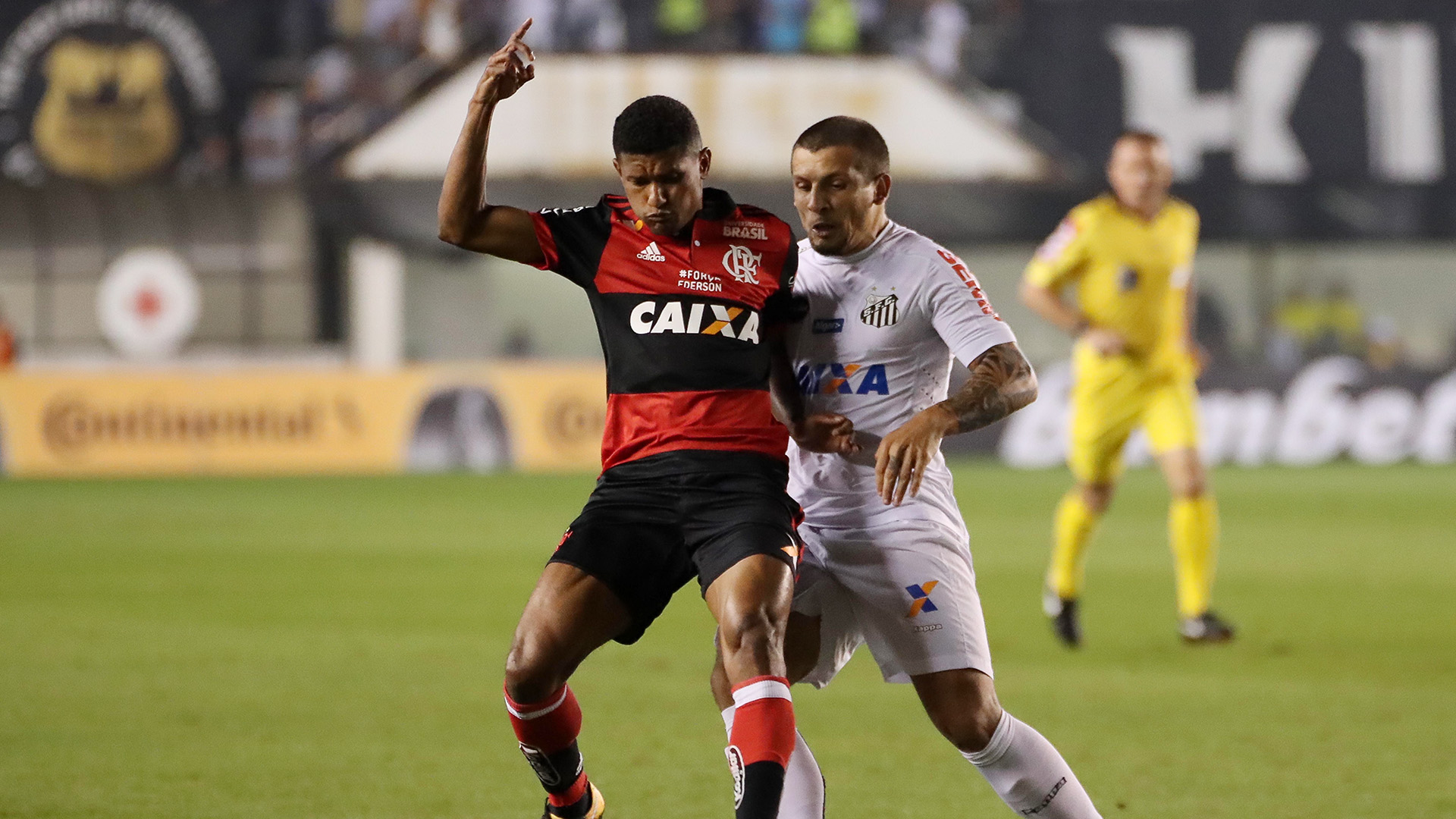 Marcio Araujo Emiliano Vecchio Santos Flamengo Copa do Brasil 26072017