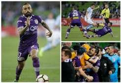 Diego Castro Josh Risdon Melbourne City v Perth Glory A-League 23042017