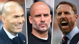 Zidane, Pep, Southgate