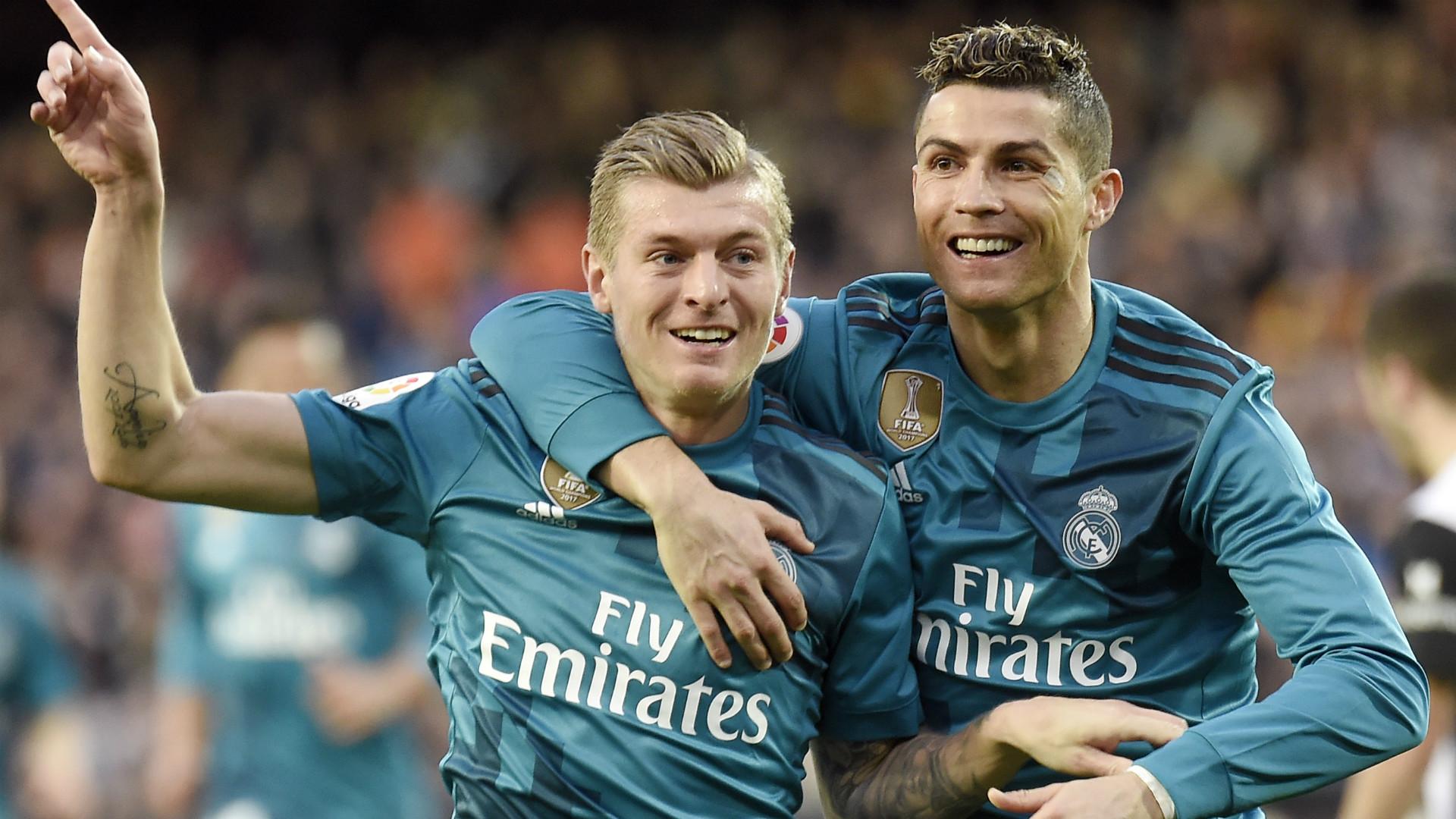 Cristiano Ronaldo Toni Kroos Real Madrid 27012018