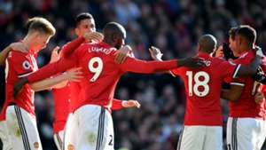 Manchester United celebrate Chelsea