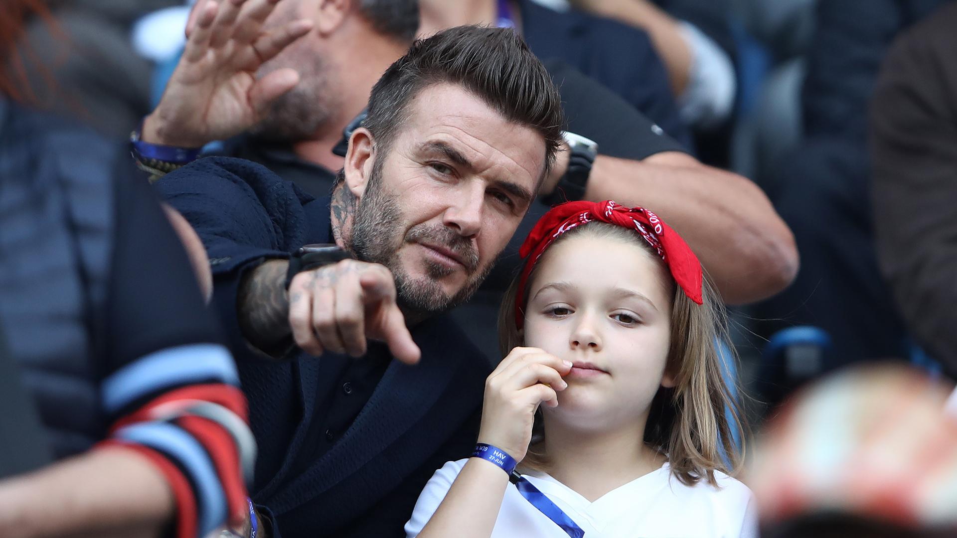 David Beckham Harper Beckham England Norway Women's World Cup