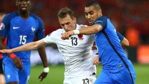 Dimitri Payet Burim Kukeli France Albania UEFA Euro 2016 15062016