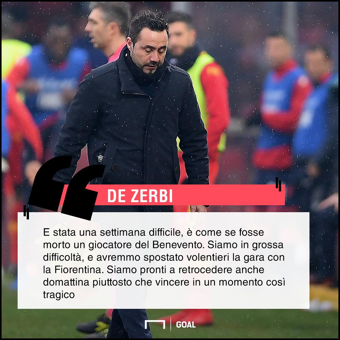 Roberto De Zerbi su Fiorentina Benevento PS ita