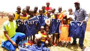 Vincent Kwarula with kids.