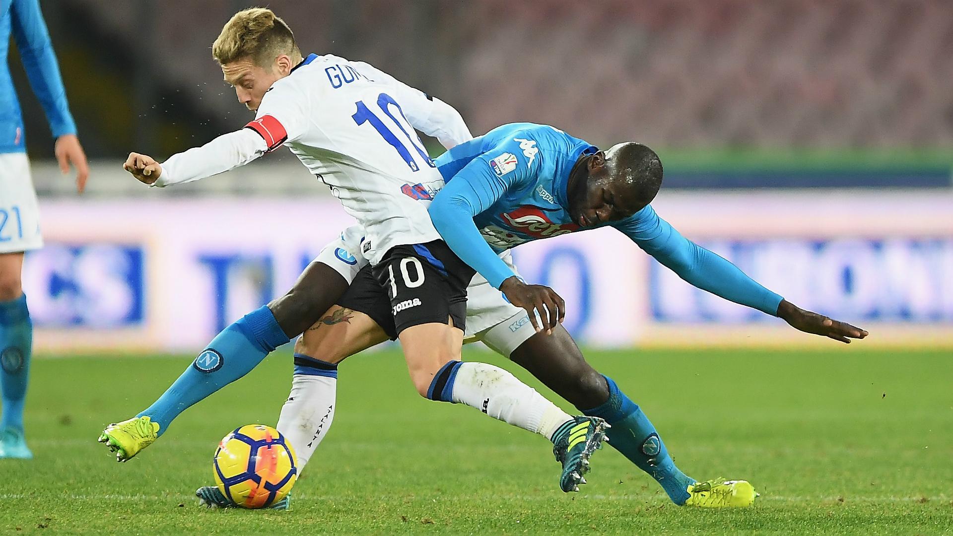 Alejandro Gomez Khalid Koulibaly Napoli Atalanta Coppa Italia