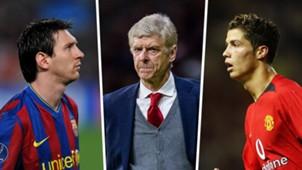 Messi, Wenger, Ronaldo
