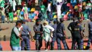 Bloemfontein Celtic v Cape Town City fan violence, April 2019