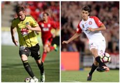 Shane Smeltz Wellington Phoenix Jonathan Aspropotamitis Western Sydney Wanderers A-League