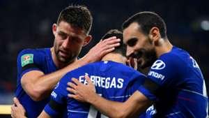 Gary Cahill Cesc Fabregas Davide Zappacosta Chelsea