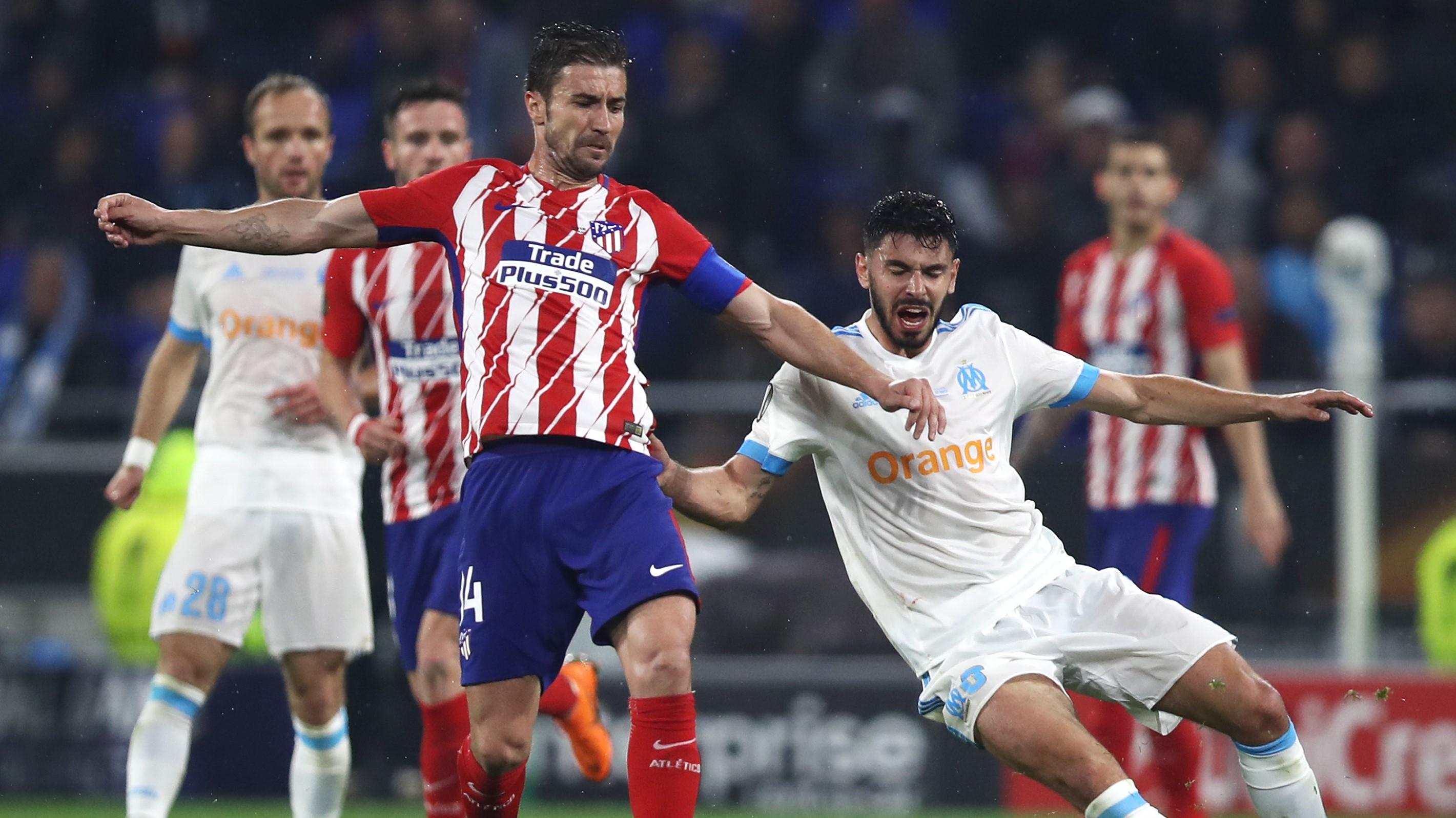 Gabi Morgan Sanson Atletico de Madrid Olympique Marseille OM UEL 16052018