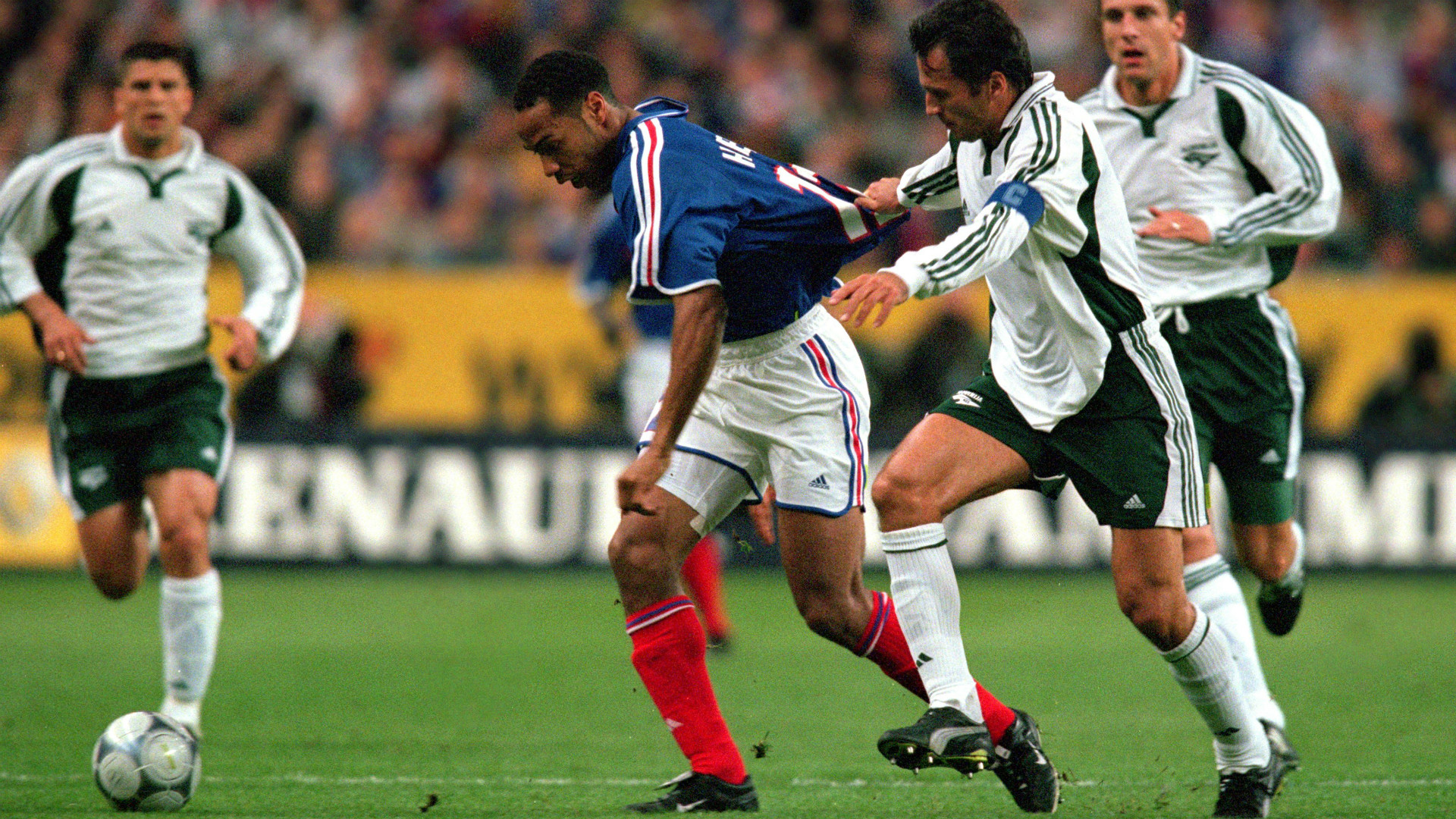 Thierry Henry at Euro 2000 for France against Slovenia