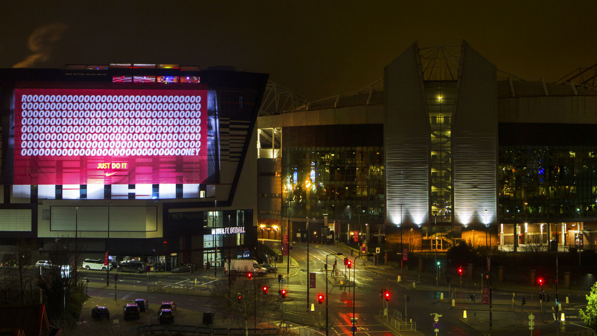 Old Trafford Manchester United Rooney tribute