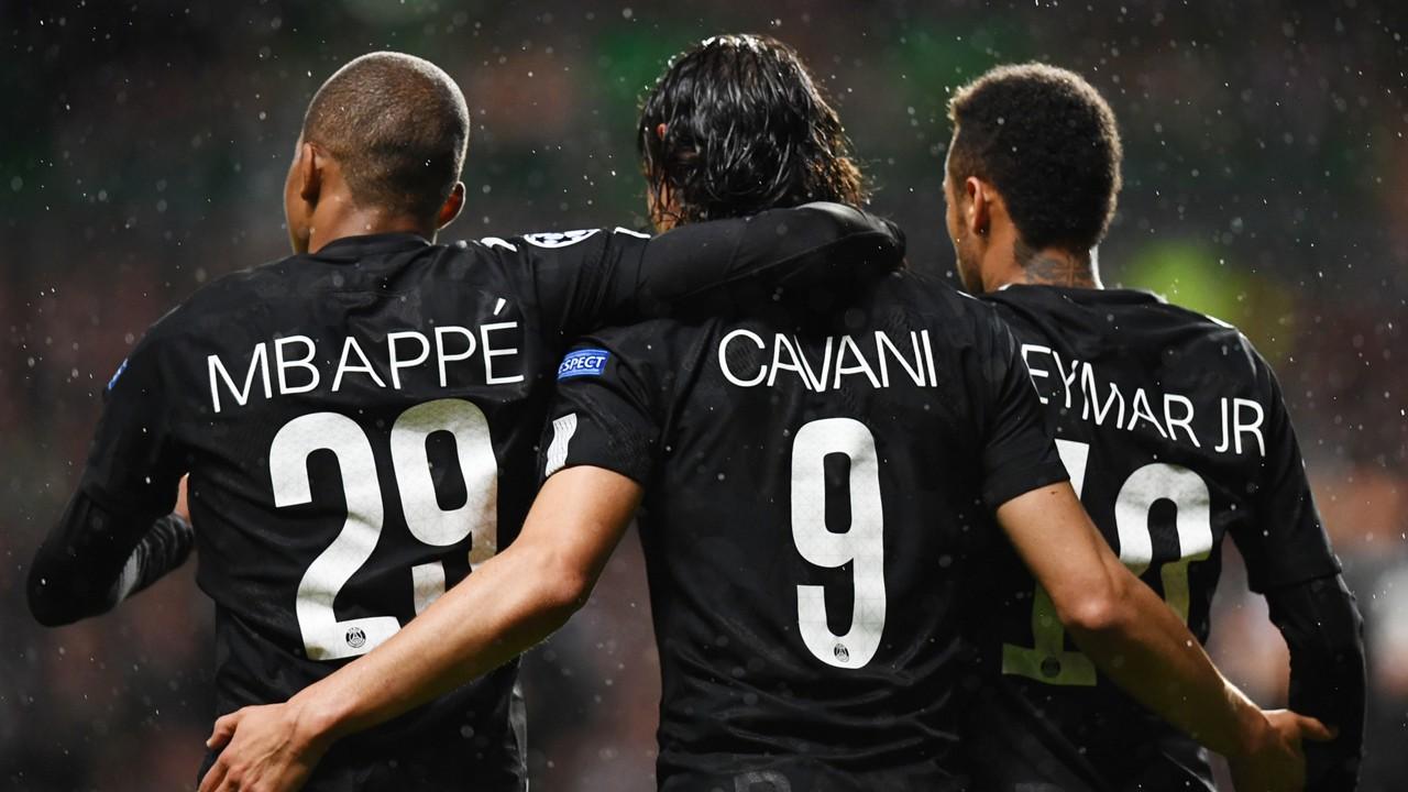 Image result for mbappe cavani neymar