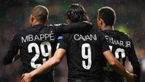 Kylian Mbappe Edinson Cavani Neymar PSG Celtic 13092017