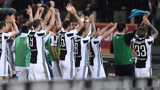 Juventus celebrating Scudetto