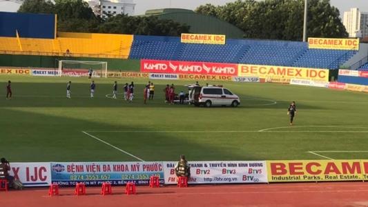 Thiện Đức - cầu thủ Bình Dương bị chấn thương đầu đã xuất viện | Goal.com