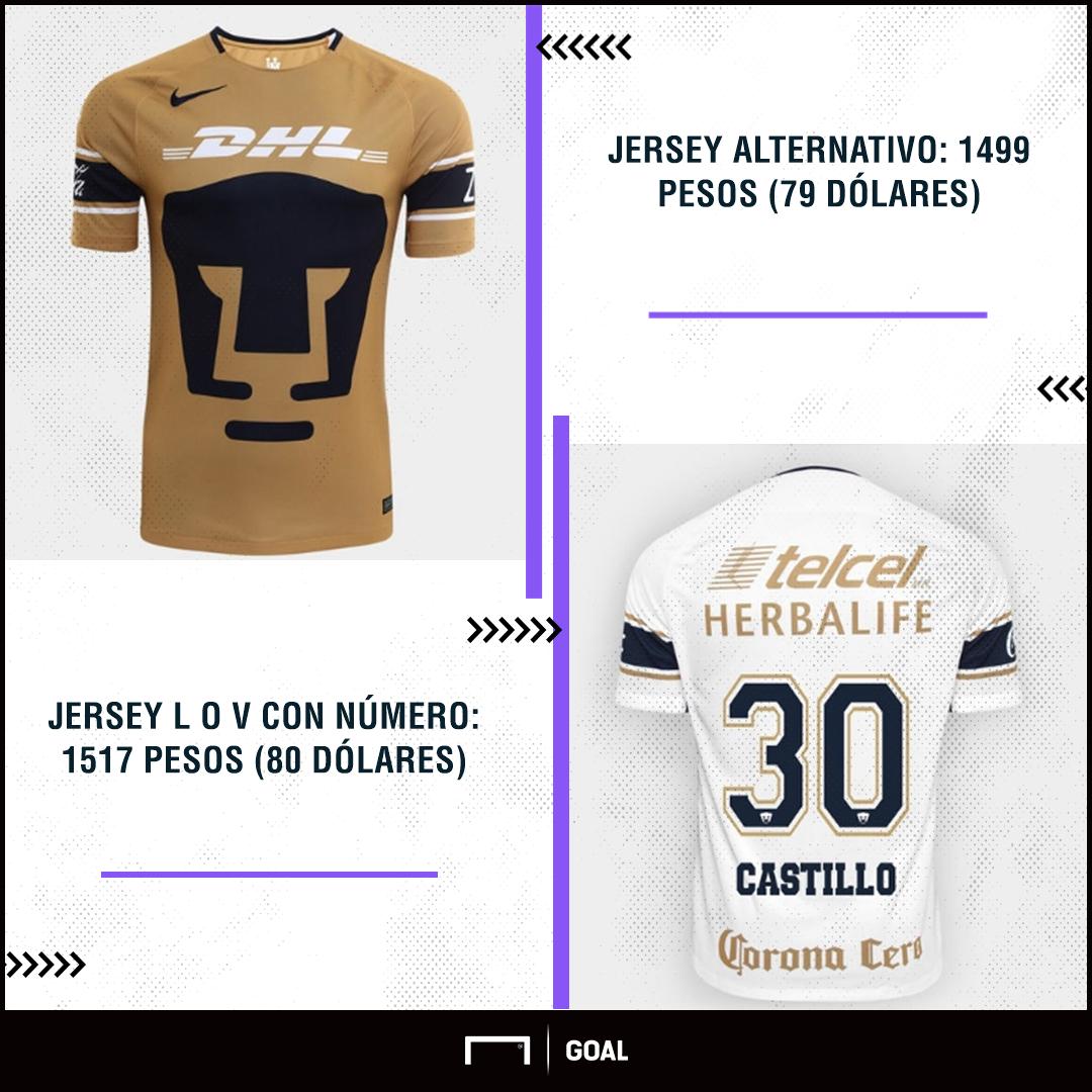 Jerseys Pumas