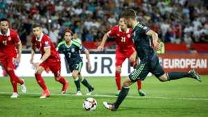 Aaron Ramsey Serbia Wales WC Qualyfying Europe 06112017