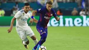 Casemiro Real Madrid Neymar FC Barcelona ICC 2017