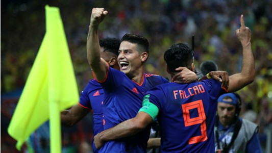 Radamel Falcao James Rodriguez Colombia World Cup 2018