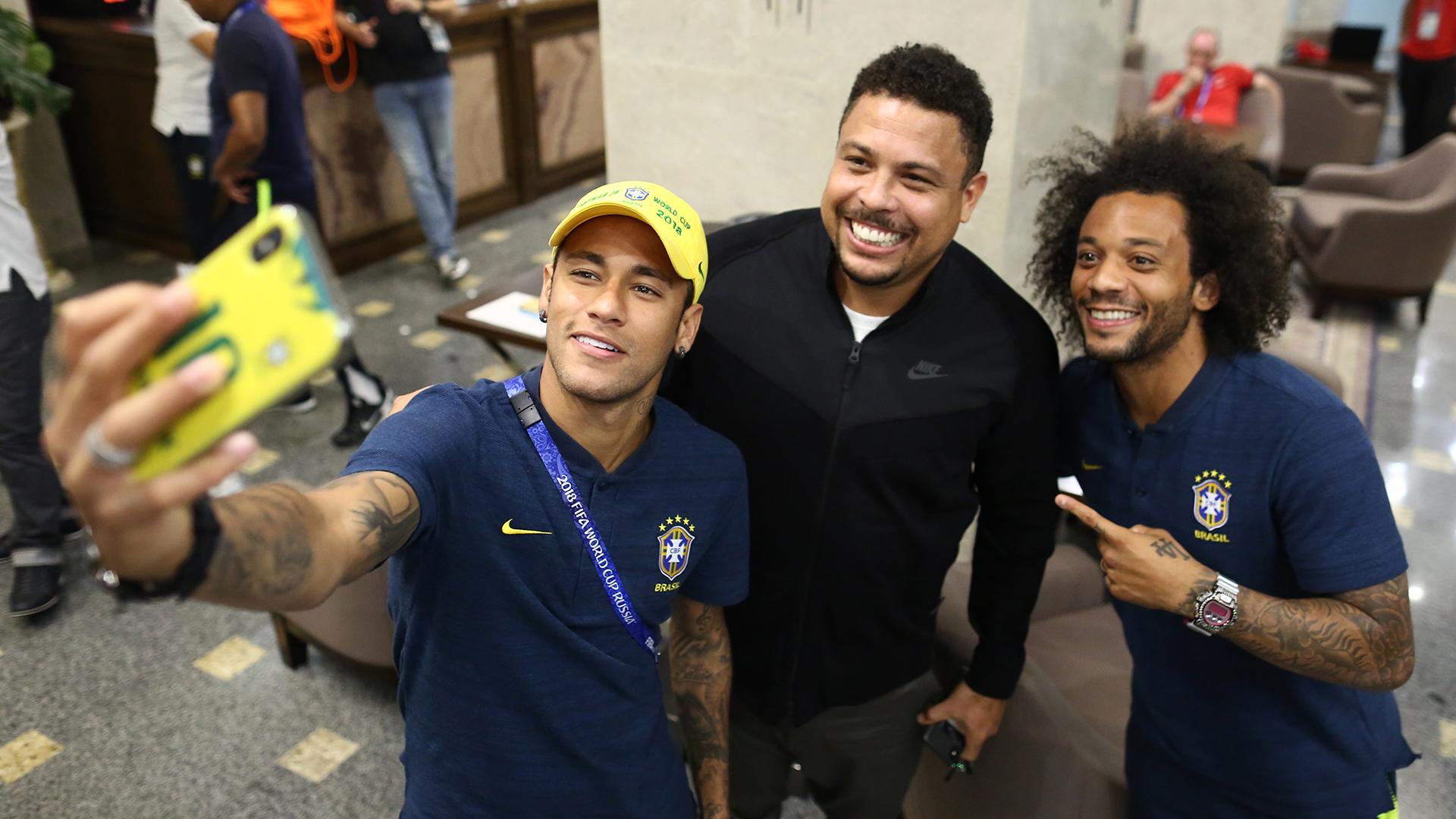 Neymar Marcelo Ronaldo Nazario visita Brasil 16062018