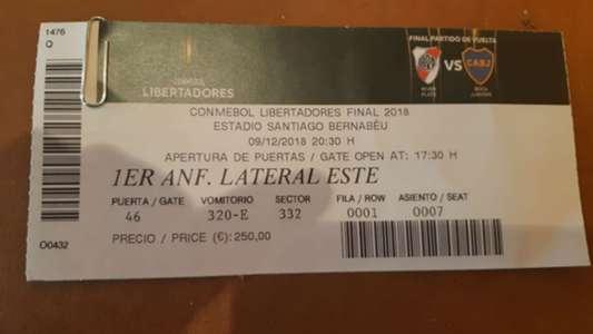 entrada River Boca Copa Libertadores