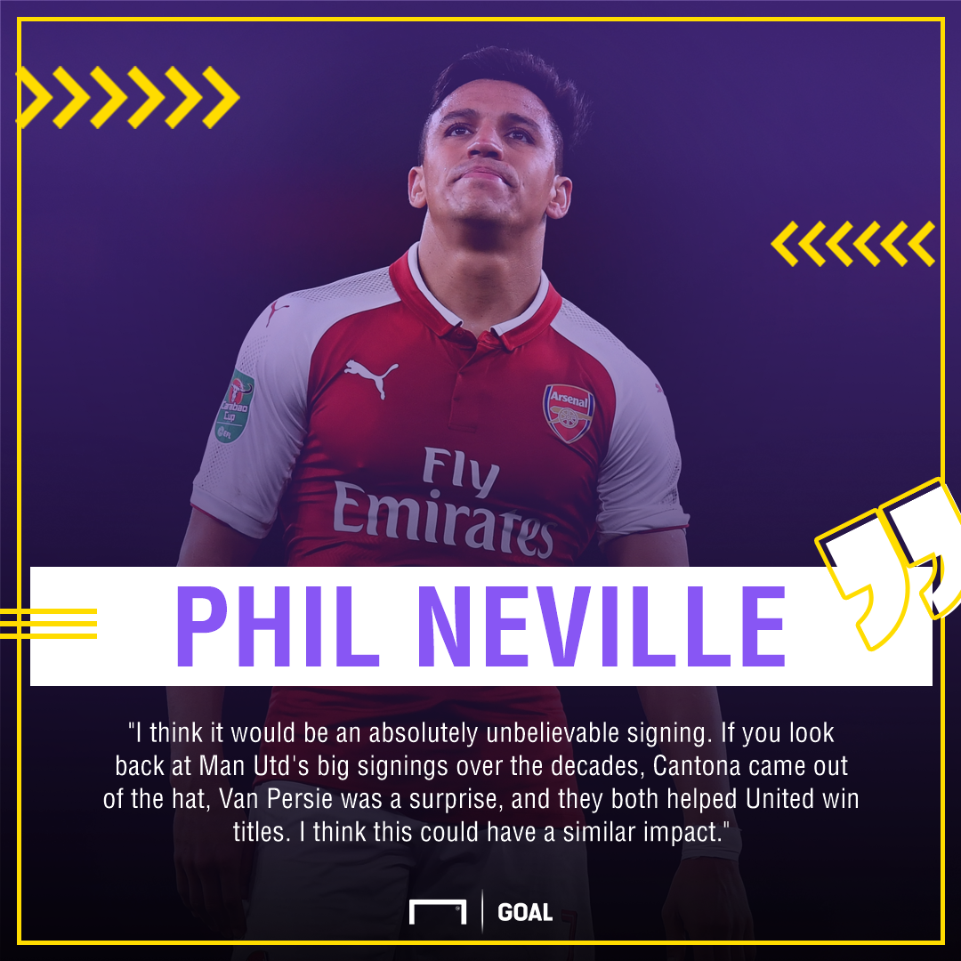 Alexis Sanchez Phil Neville like Eric Cantona and Robin van Persie