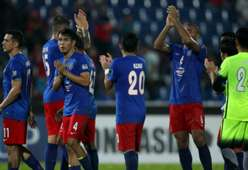 Johor Darul Ta'zim after their win over Beoungket Angkor